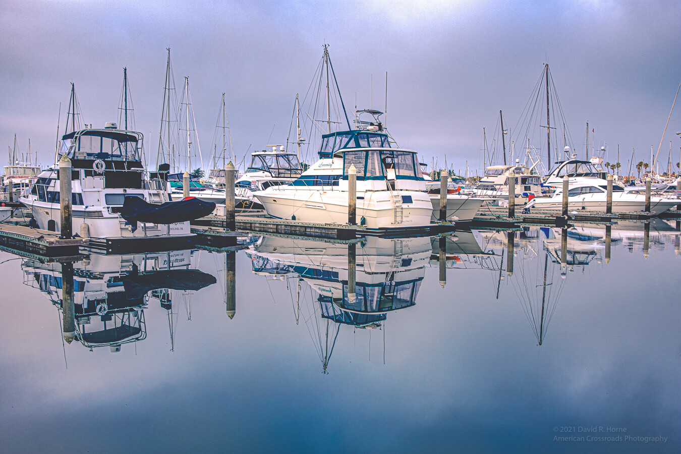 Morning Reflection Still Waters - Oxnard Harbor-_DSF7385-Edit